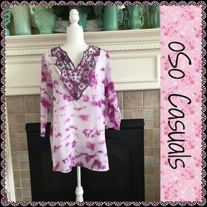 oSo Casuals tunic top, size XL